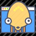 alien, browser, chat, emoji, smile, web icon