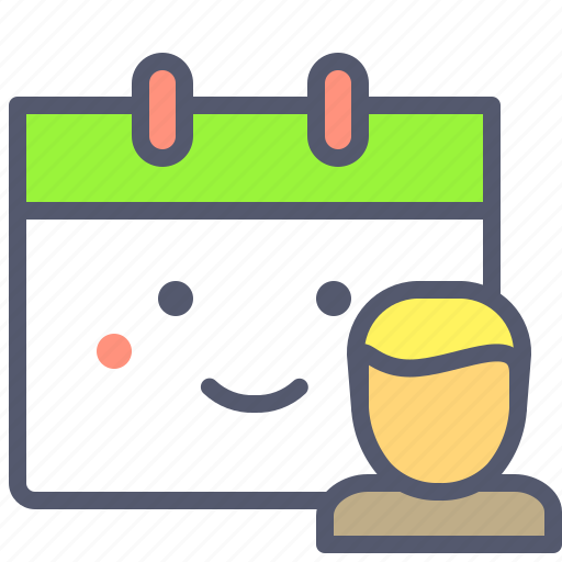 appointment, calendara, schedule, team, user icon