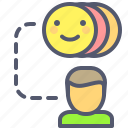 emoji, emotions, feelings, transfer icon