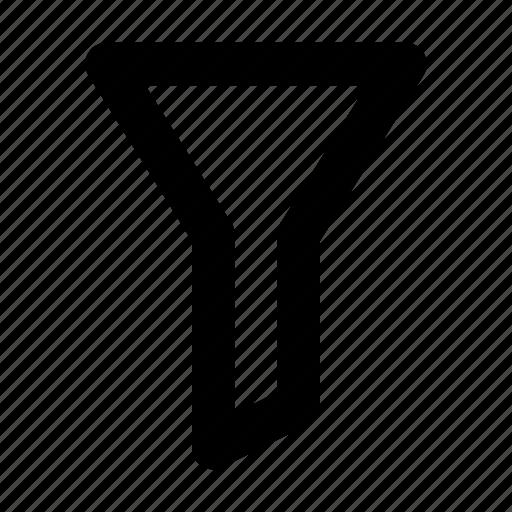 filter, filtering, funnel, sort icon