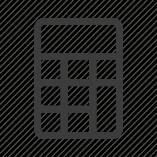 accounting, calculation, calculator icon