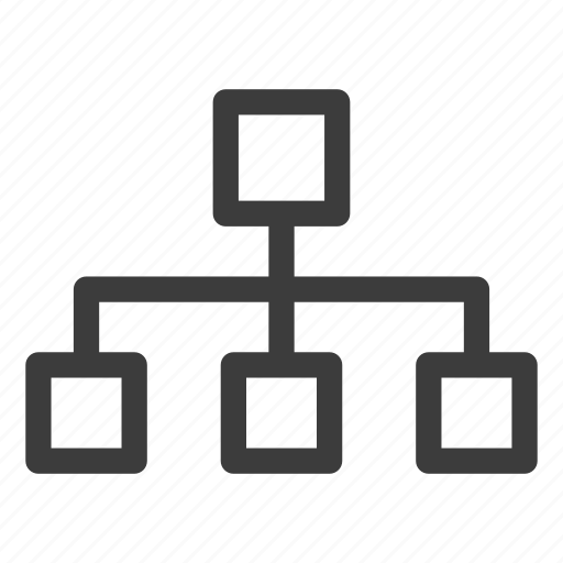 flowchart, hierarchy, plan icon