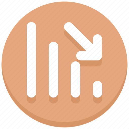 arrow, down, interface, signals, user, wifi icon