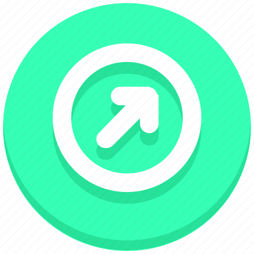 arrow, circle, interface, next, right, up, user icon
