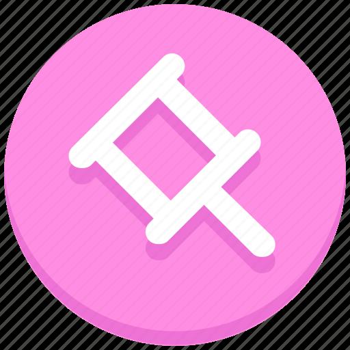 interface, paper pin, pin, user icon