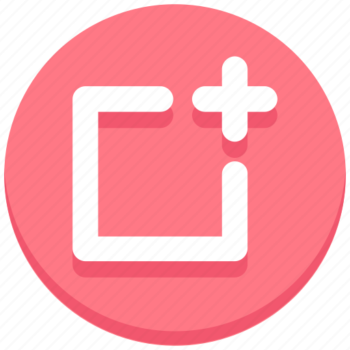 add, interface, plus, square, user icon