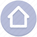 home, house, interface, user icon