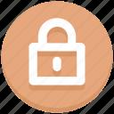 close, interface, lock, padlock, user icon