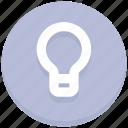 bulb, creativity, idea, interface, light, user icon