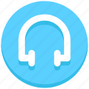 earphone, headphone, interface, music, user icon