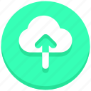 arrow, cloud, interface, upload, user icon