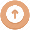 arrow, circle, down, download, interface, user icon
