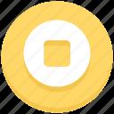 circle, interface, media, stop, user icon