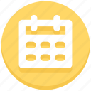calendar, date, interface, month, user icon