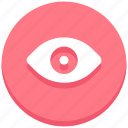 eye, interface, user, view, vision icon