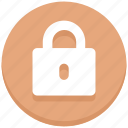 close, interface, lock, padlock, user icon