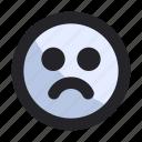 avatar, bad, emoji, emoticon, face, interface, sad
