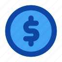 coin, dollar, interface, money, sign, ui, user icon