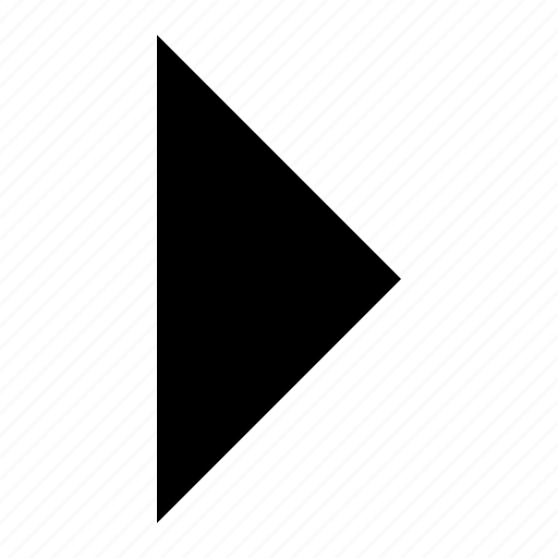 arrow, play, right, triangle, ui icon