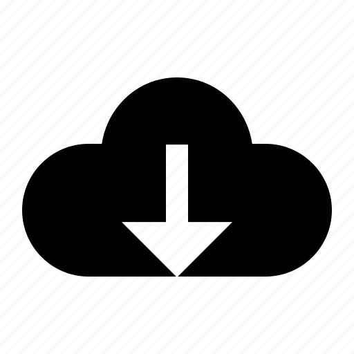 cloud, down, download, ui icon