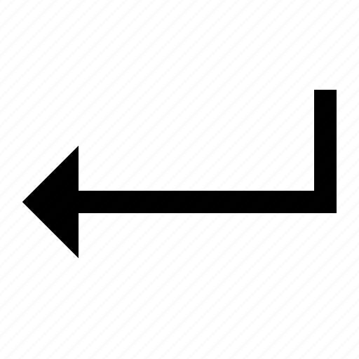 arrow, back, enter, ui icon