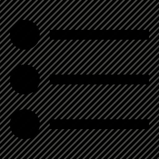 bullet, format, list, ui icon