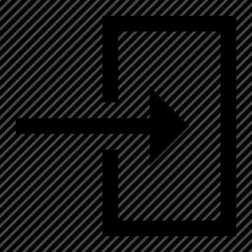 enter, in, log, log in, ui icon