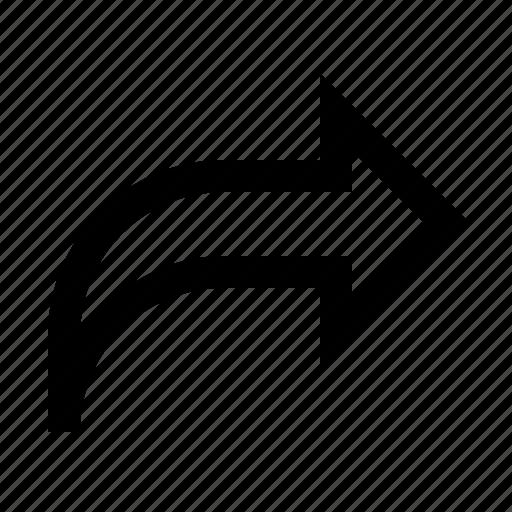 arrow, forward, reply, share, ui icon