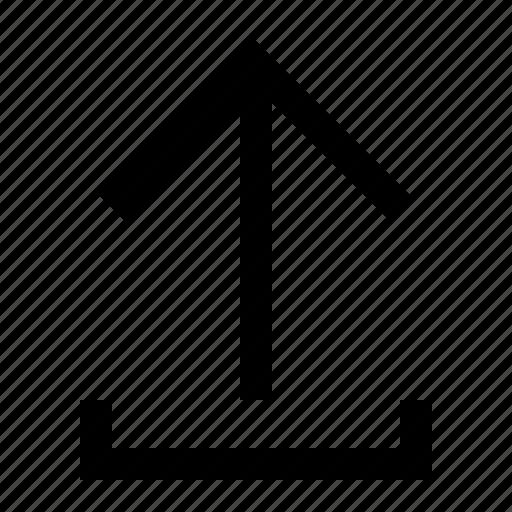 arrow, ui, up, upload icon