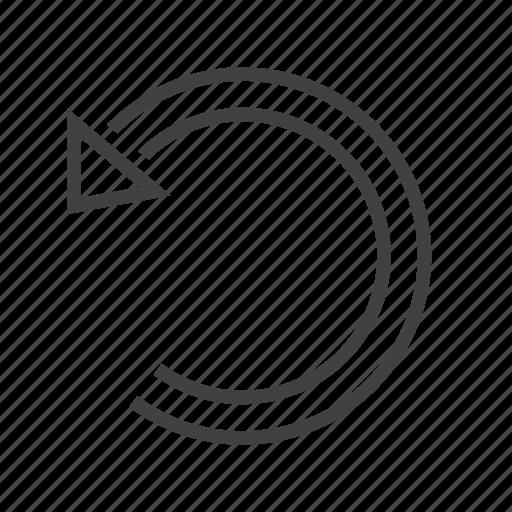 arrow, left, rotate, undo icon