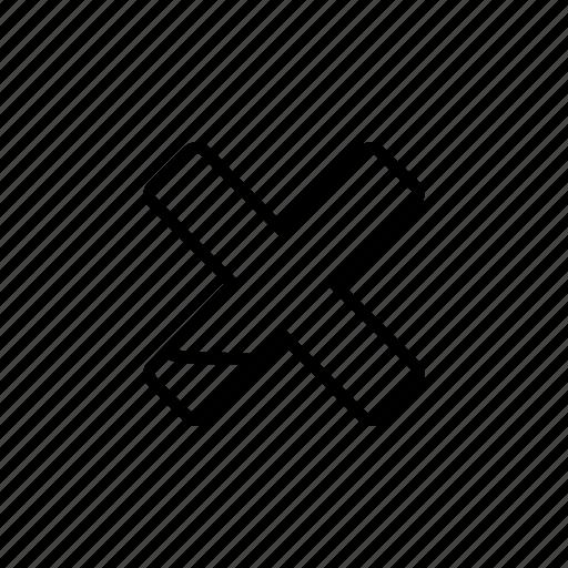 close, delete, exit, fail, failed, remove, x icon