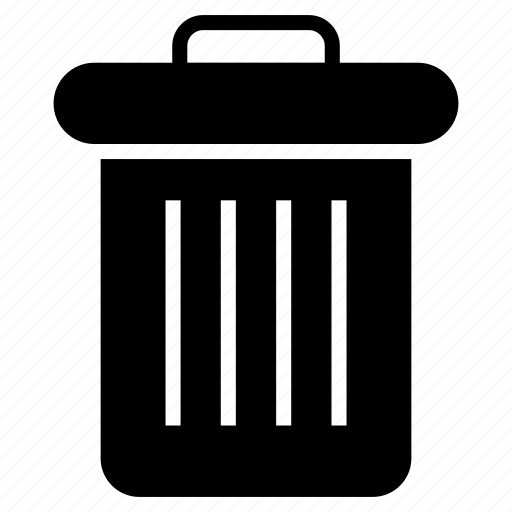garbage bin, recycle bin, recycle trash, recycling container, waste bin container icon