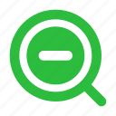 magnifier, magnifying, magnifying glass, view, zoom, zoom out icon