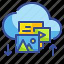 clouds, computing, files, interface, multimedia, uploading