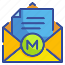 communications, email, envelope, interface, mail, message, multimedia icon