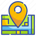 gps, location, map, pin, point icon