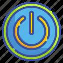 energy, interface, multimedia, on, open, power, start icon