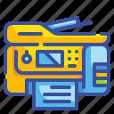 fax, interface, print, printer, printing, scanner, ui icon