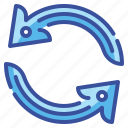 arrows, circular, direction, interface, orientation, refresh, reload