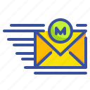 interface, envelope, mail, message, email, communications, sending icon