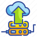 cloud, computing, databases, interface, server, storage, upload icon
