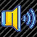 audio, multimedia, nterface, sound, speaker, volume icon