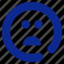 bad, emoticon, sad icon
