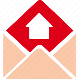 arrow, email, envelope, letter, mail, message, send icon