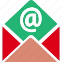 email, envelope, letter, mail, message, open, send icon