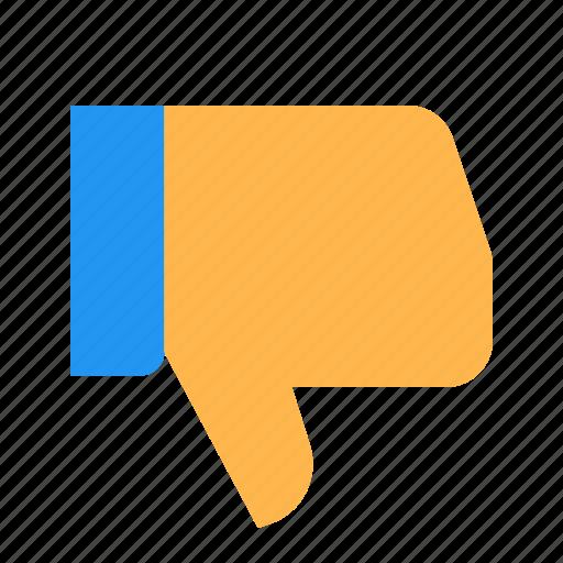 bad, dislike, down, hand, thumbs, vote, ya icon