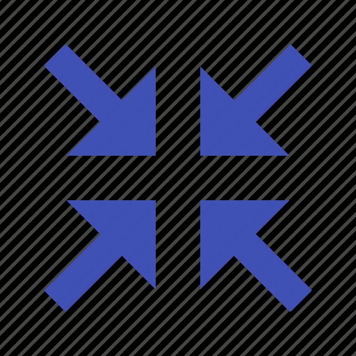 arrows, collapse, minimize, minus, reduce icon