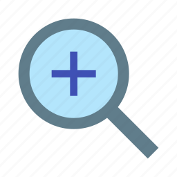 glass, in, magnifier, maximize, zoom icon
