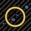 play, quaver, sound, music icon
