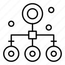 flow, organization, network icon